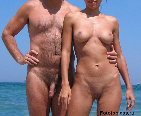 naturists and nudists naked topless on the beach (1407)