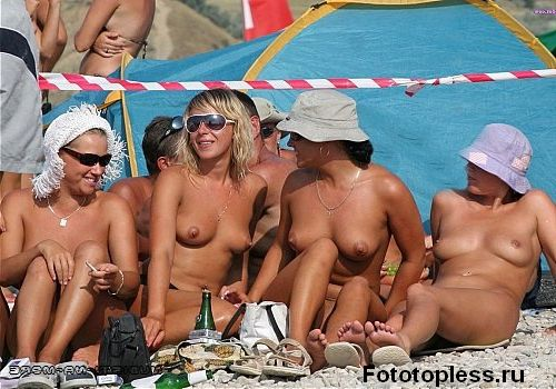 naturists and nudists naked topless on the beach (251)