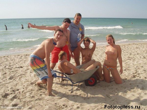 naturists and nudists naked topless on the beach (295)