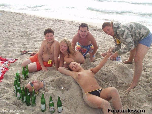 naturists and nudists naked topless on the beach (296)