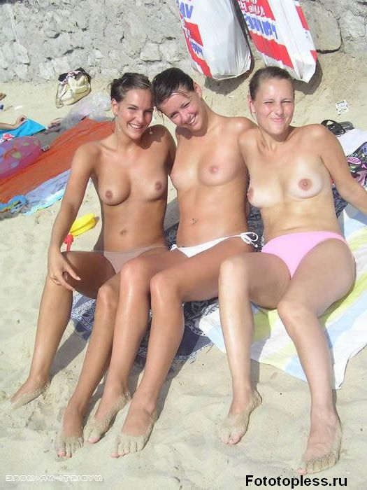 naturists and nudists naked topless on the beach (297)