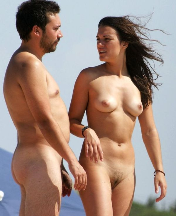 naturists and nudists naked topless on the beach (3202)