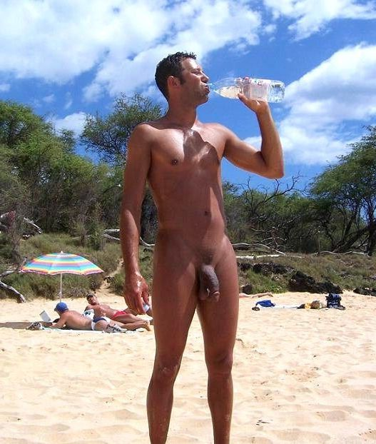 naturists and nudists naked topless on the beach (3223)
