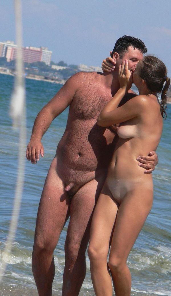 naturists and nudists naked topless on the beach (3235)
