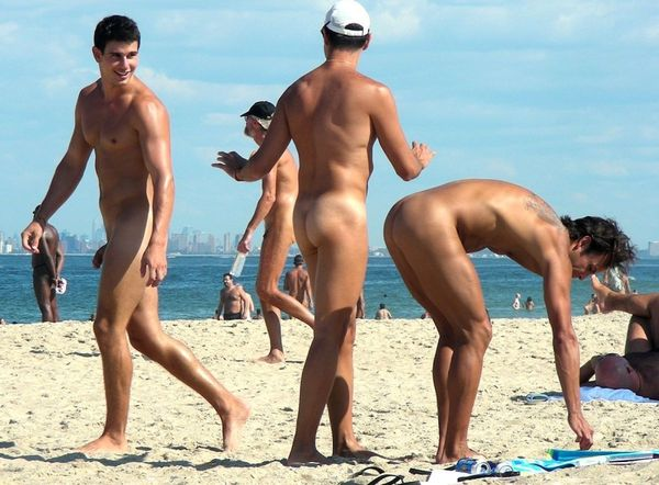 naturists and nudists naked topless on the beach (3303)