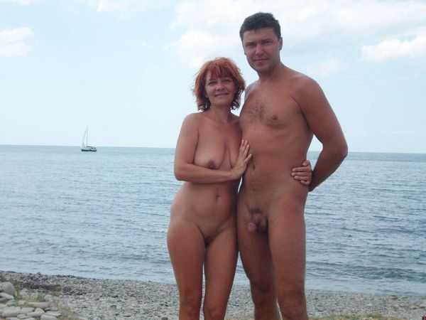 naturists and nudists naked topless on the beach (3738)