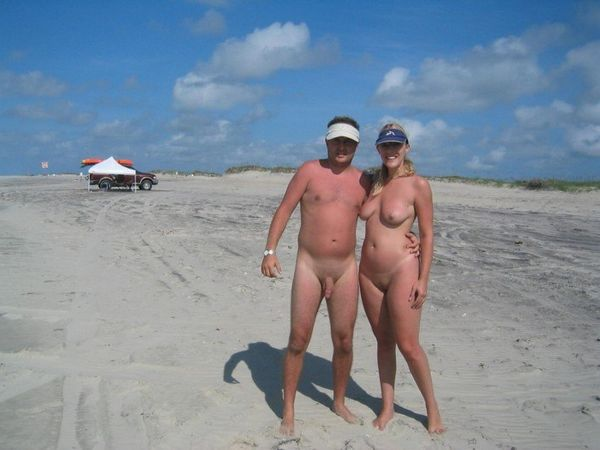 naturists and nudists naked topless on the beach (3831)