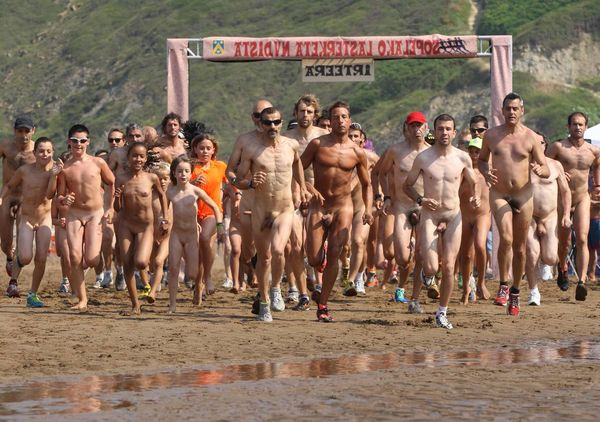 naturists and nudists naked topless on the beach (3863)