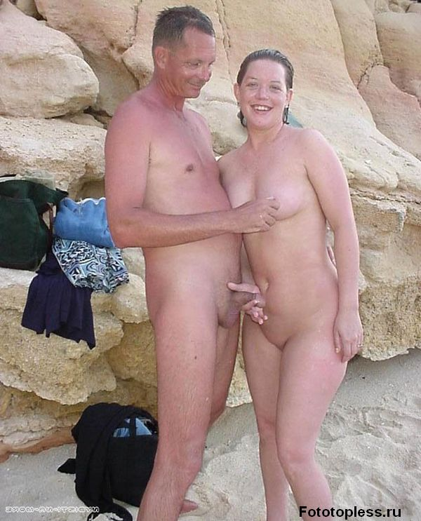 naturists and nudists naked topless on the beach (450)