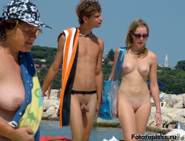 naturists and nudists naked topless on the beach (566)