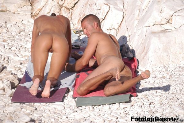 naturists and nudists naked topless on the beach (567)